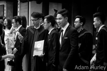 Uni Graduates celebrating at the Temple of Literature