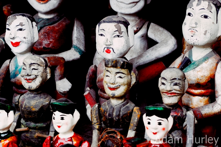 Water puppets for sale in Vietnam's capital city, Hanoi
